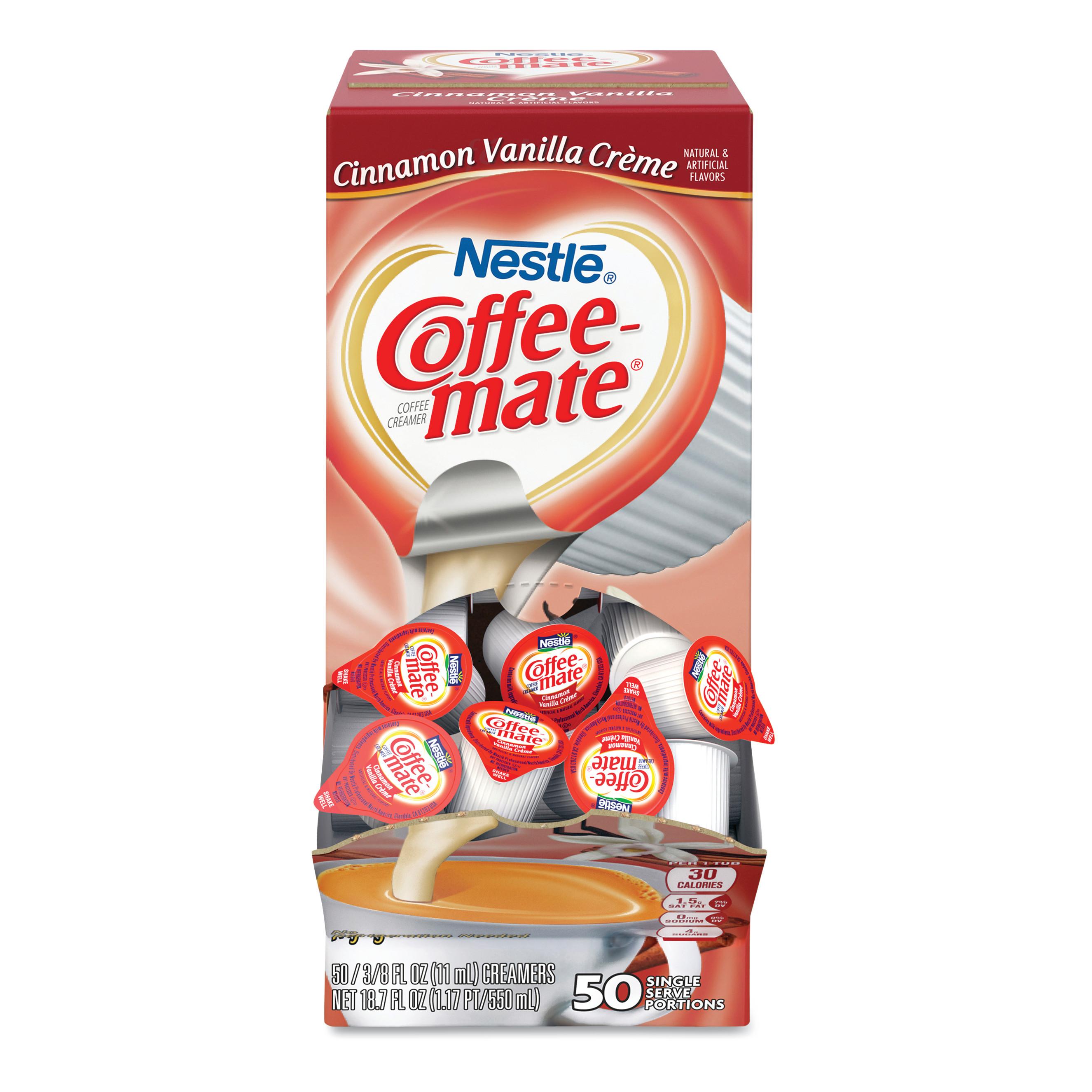 Liquid Coffee Creamer Cinnamon Vanilla 0.38 oz Mini Cups ...