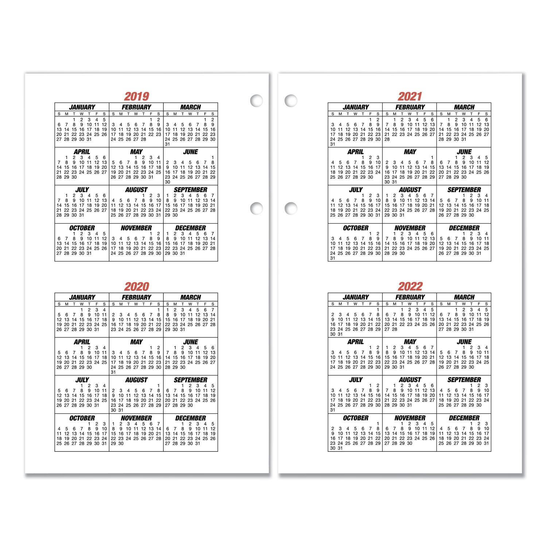 7 Ring Calendar Refill Organizers