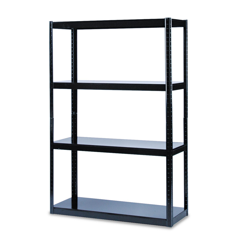 Boltless Steel Shelving Five Shelf 48w X 18d X 72h Black