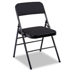 Cloth Padded Folding Chairs Desk Chair For Bedroom Deluxe Fabric Seat And Back By Cosco