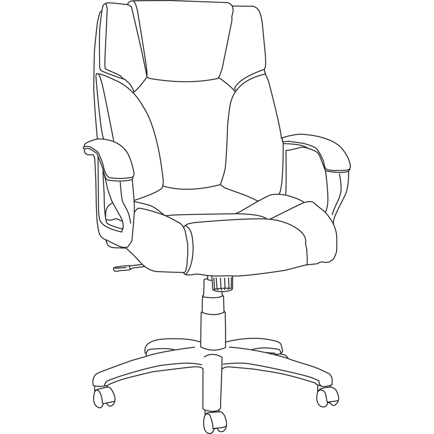 Alera Fraze Series High-Back Swivel/Tilt Chair by Alera
