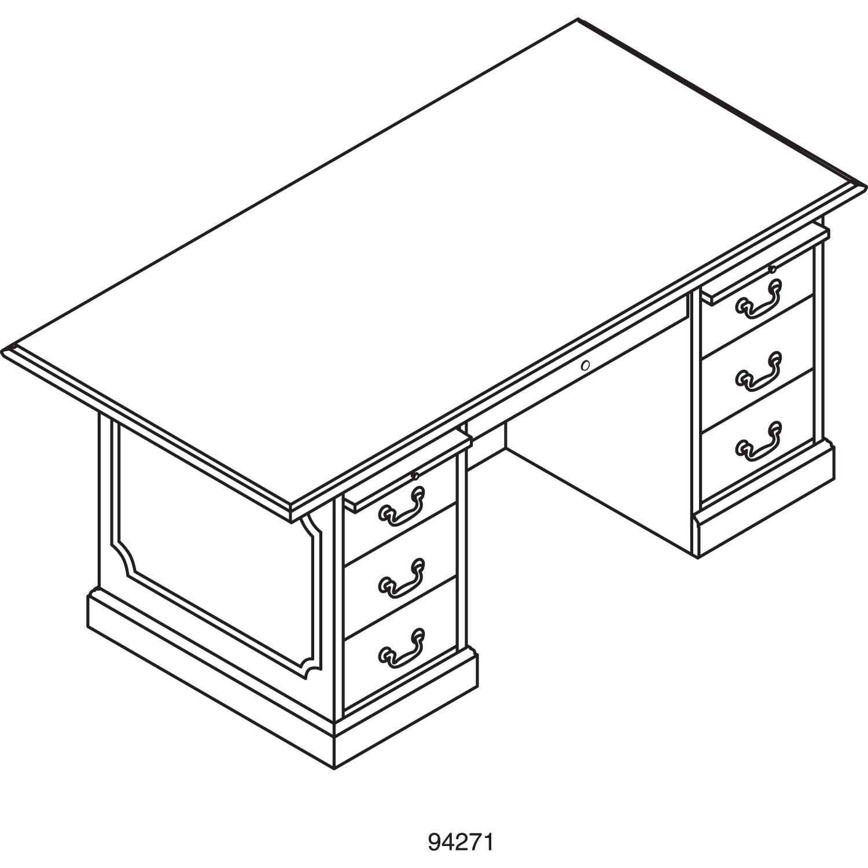 94000 Series Double Pedestal Desk by HON® HON94271NN