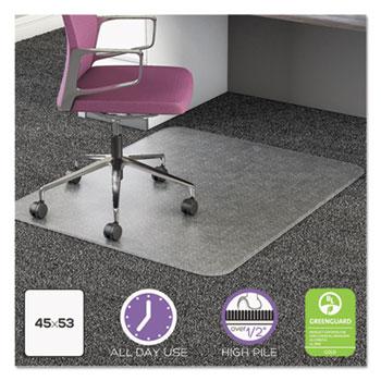 desk chair mat for high pile carpet masters golf folding chairs ultramat all day use by deflecto defcm16243com15 ontimesupplies com