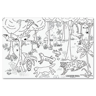 PAC-78840: Pacon Learning Walls Paper, Rain Forest, 72