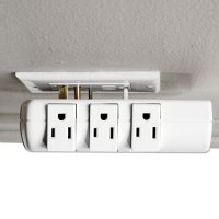 Wall Mount Surge Protector, 6 Outlets, 2160 Joules, White ...