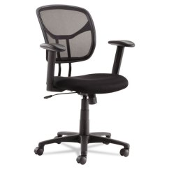 Office Chair Height Furniture Table And Chairs Swivel Tilt Mesh Task Adjustable T Bar Arms Black Chrome