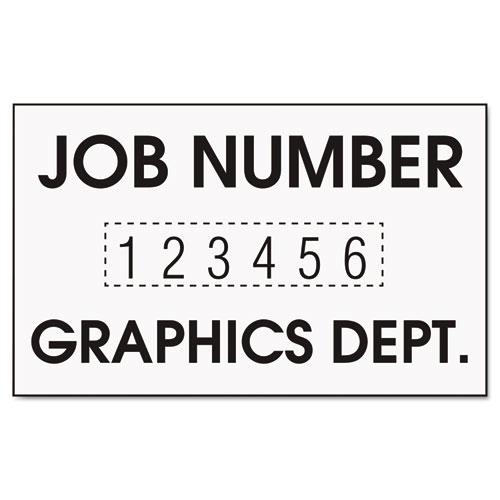 Stamp with Plastic Frame, Custom Numberer, Self-Ink, Black