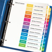 Avery 11127 Ready Index Customizable Table of Contents ...