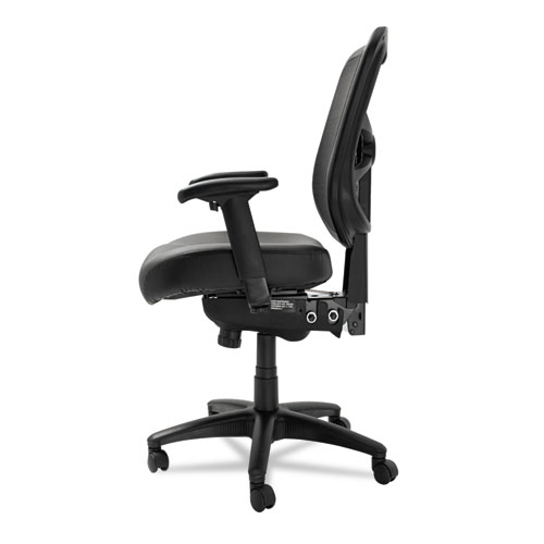 alera elusion chair salon styling series mesh mid back multifunction black leather
