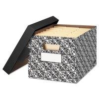 STOR/FILE Decorative Medium-Duty Storage Boxes, Letter/Lgl ...