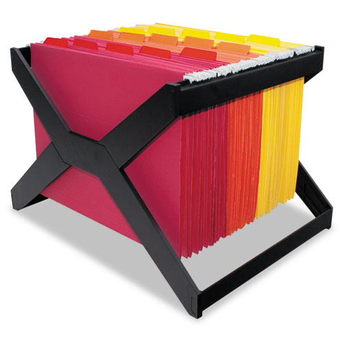 easy chairs with footrests childrens sofa letter/legal hanging file rack, plastic, 16 x 12 10 3/4, black | thegreenoffice.com
