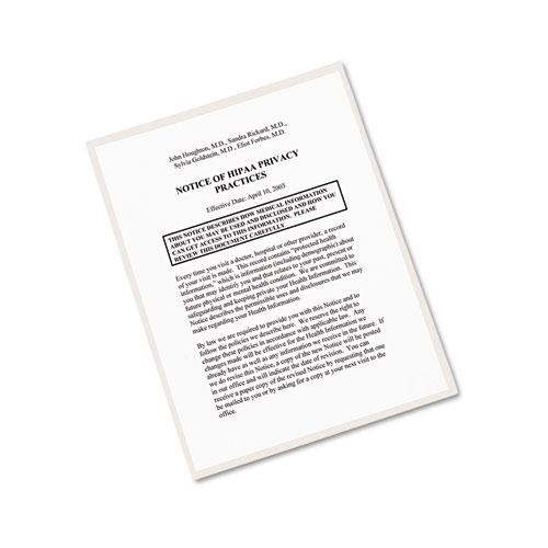 Clear Self-Adhesive Laminating Sheets, 3 mil, 9 x 12, 10