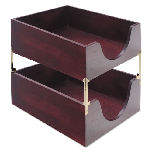 CVR08213 Carver Hardwood Letter Stackable Desk Tray  Zuma