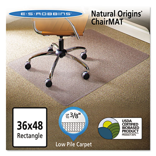 clear chair mat mission rocking natural origins for carpet 36 x 48 office supply esr141028