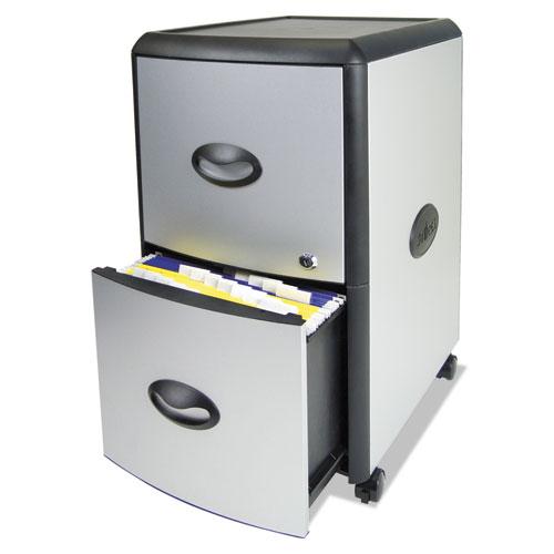 STX61351U01C Storex TwoDrawer Mobile Filing Cabinet  Zuma
