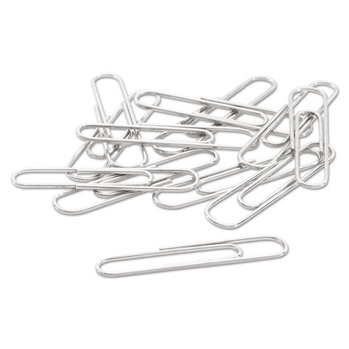 Smooth Economy Paper Clip, #1, Silver, 100/Box, 10 Boxes