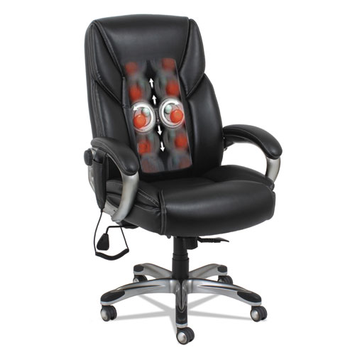 Shiatsu Massage Chair Black Silver Base  TheGreenOfficecom