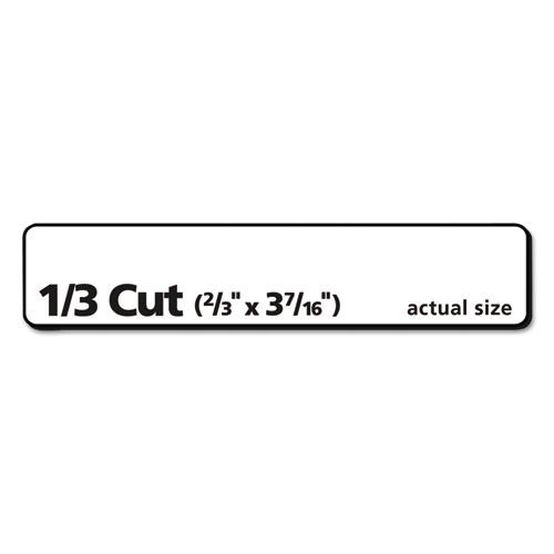 Avery 5366 Permanent File Folder Labels, TrueBlock, Laser