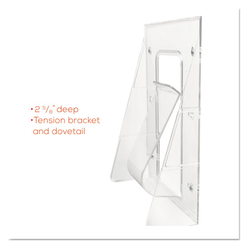 Stand-Tall Wall-Mount Literature Rack, Leaflet, 4 9/16 x 2
