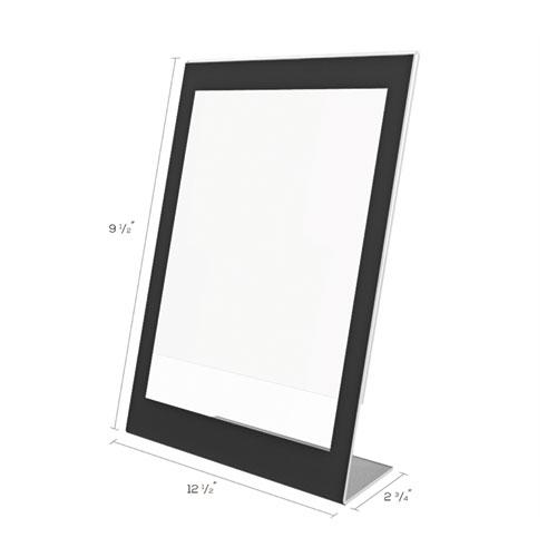 Superior Image Black Border Sign Holder, 8 1/2 x 11