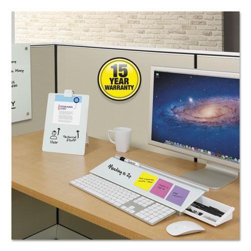 Glass Dry Erase Desktop Easel 11 x 9 White