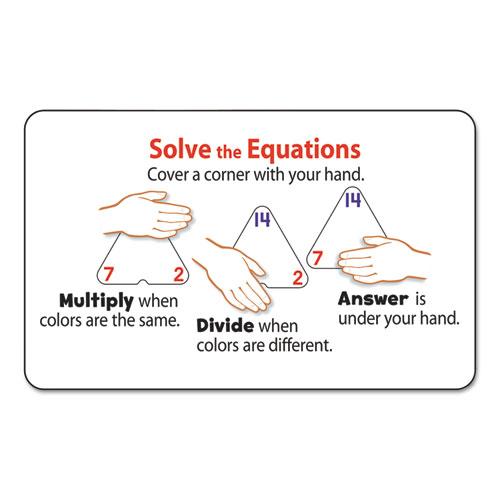 Multiplication/Division Three-Corner Flash Cards, 8 & Up