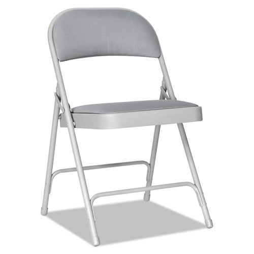 armless folding chair game with steering wheel alera steel two brace support fabric back seat category chairs stools