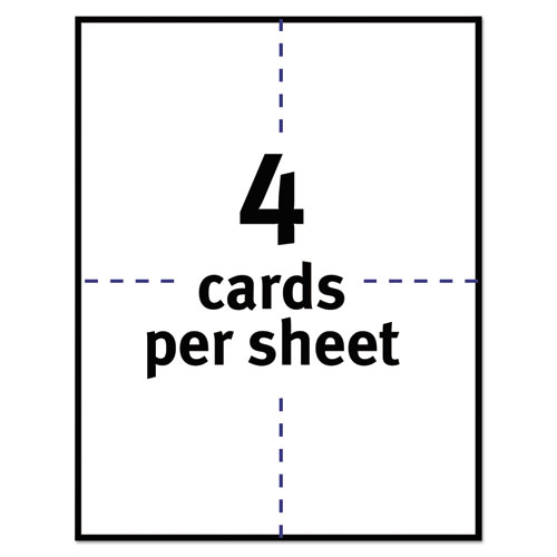 Postcards for Inkjet Printers, 4 1/4 x 5 1/2, Matte White