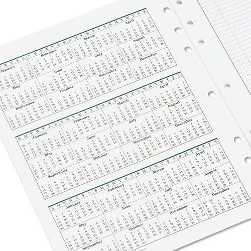 Original Dated Monthly Planner Refill, January-December, 8