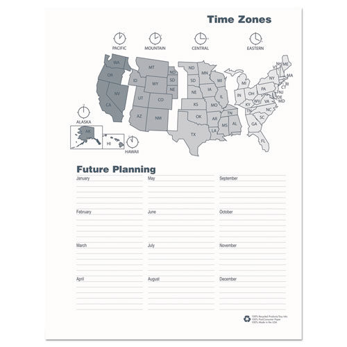 Recycled Ruled Monthly Planner, 14- Month Dec.- Jan., 11 x