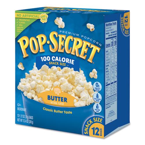 pop secret microwave popcorn butter 1 2 oz bags 12 box