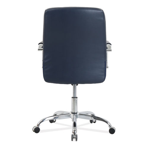 blue leather office chair eames elephant mid back diamond embossed navy seat item aleka54229