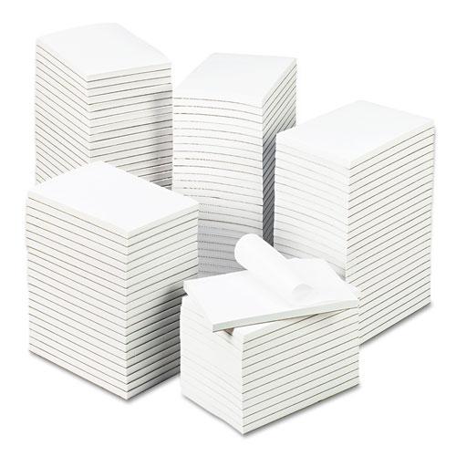 Bulk Scratch Pads, Unruled, 4 x 6, White, 100 Sheet Pads