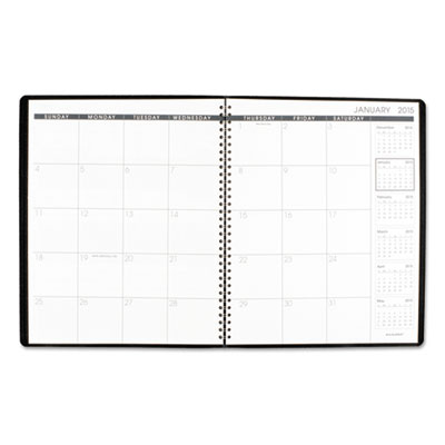 AAG-7026005: AT-A-GLANCE Monthly Planner, 9 x 11, Black