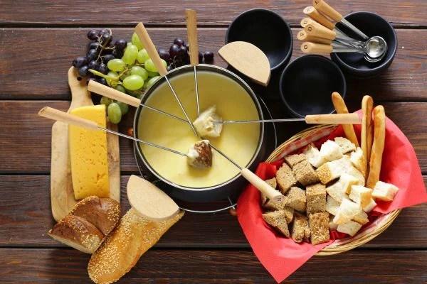 como fazer fondue - queijo