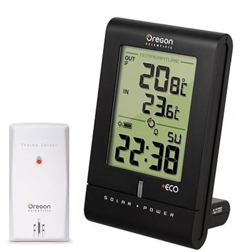 Horloge solaire Oregon RMR331ES avec thermomtre int et ext  Pearlfr