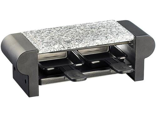 mini raclette duo avec gril et pierre a cuisson noir