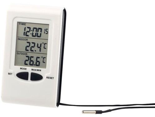 Thermomtre digital filaire pour Extrieur et Intrieur pas cher  Pearlfr