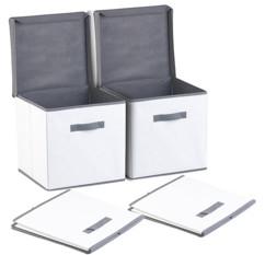 boites de rangement tissu cubiques pour