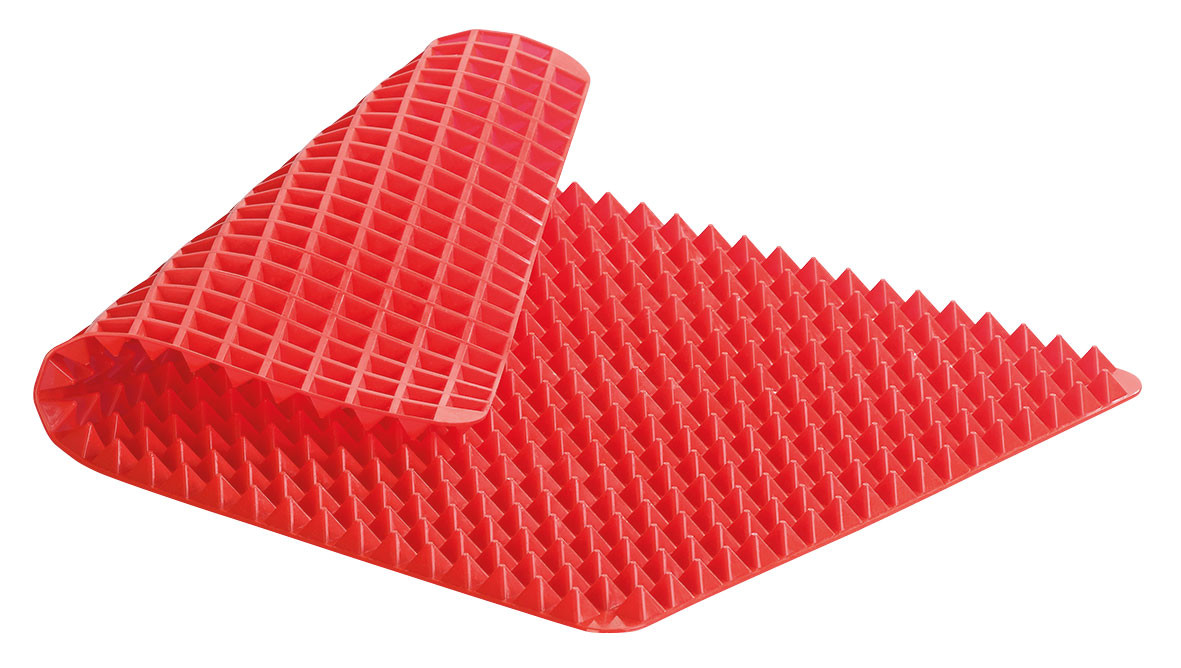tapis de cuisson en silicone avec revetement antiadhesif et picots pyramidaux