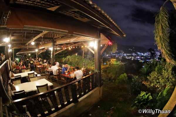 Number 6 Restaurant 'Up The Hill' in Patong Beach