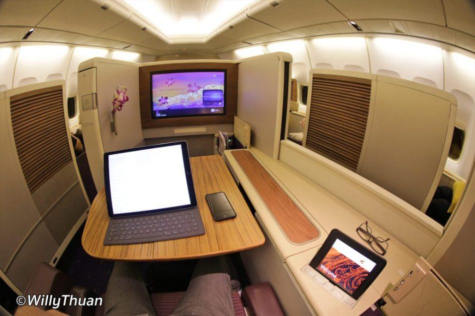 First Class on Thai Airways