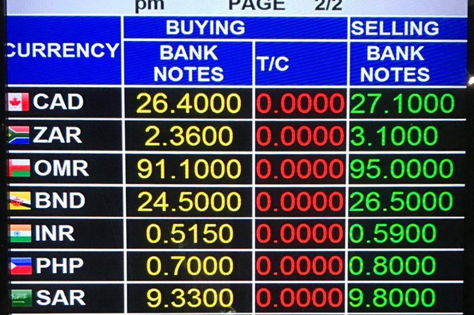 Phuket Exchange Rates