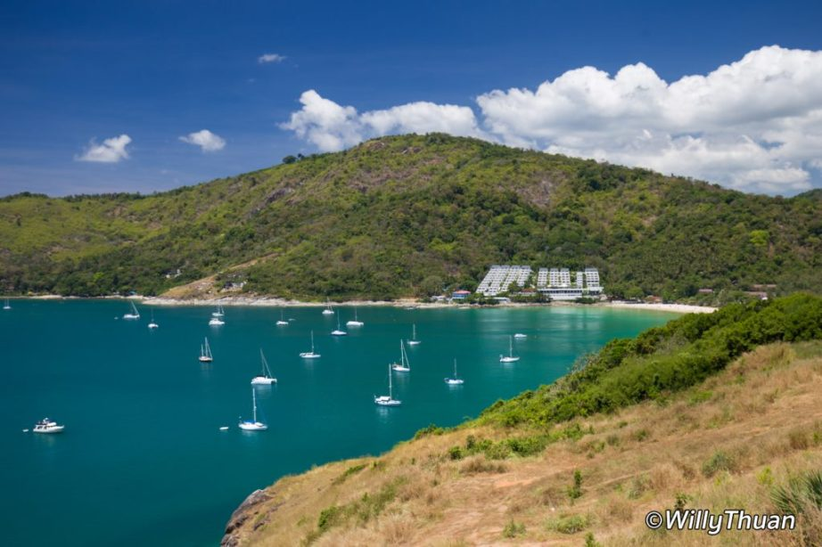 The Nai Harn seen from Windmill Viewpoint in Phuket