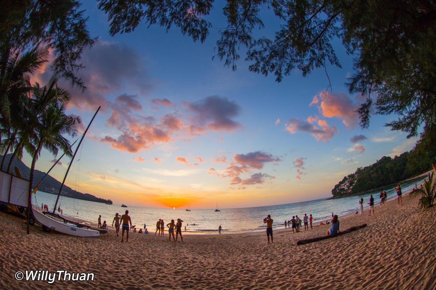 Sunset on Kamala Beach