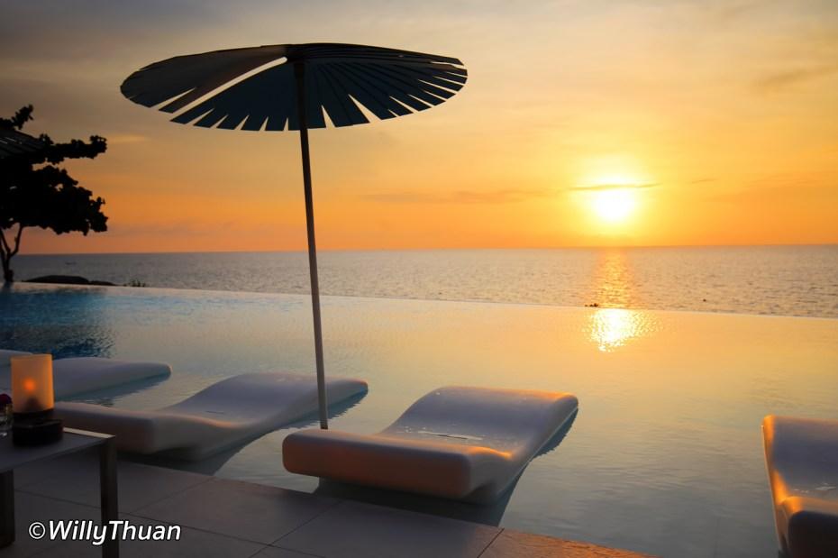 Sunset at Kata Rocks hotels in Phuket