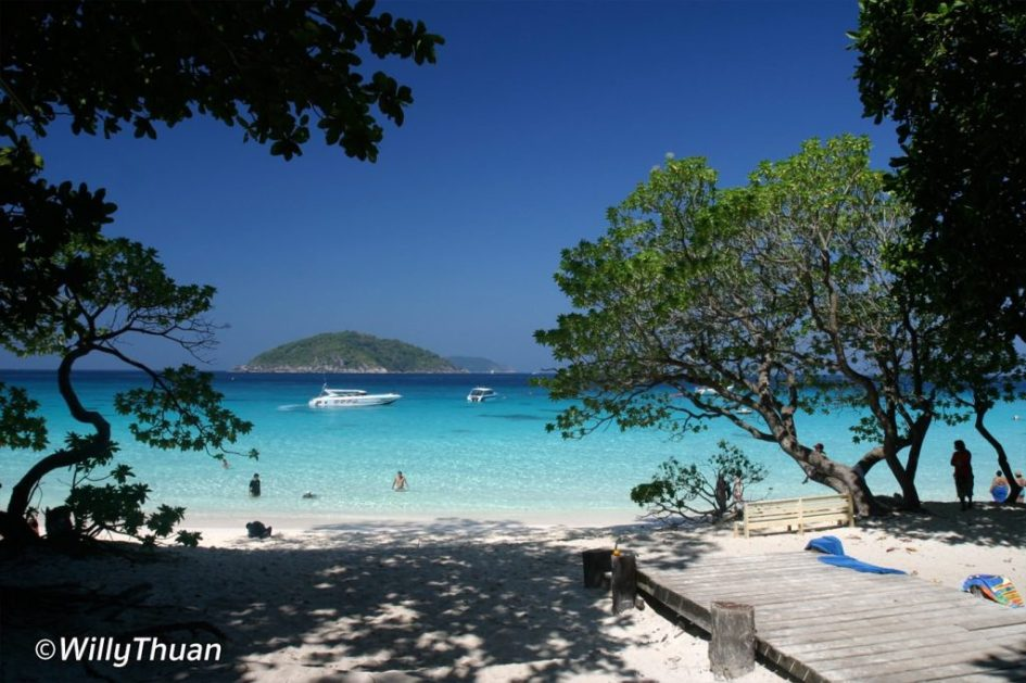 Overnight in Similan Islands, in front of the restaurant
