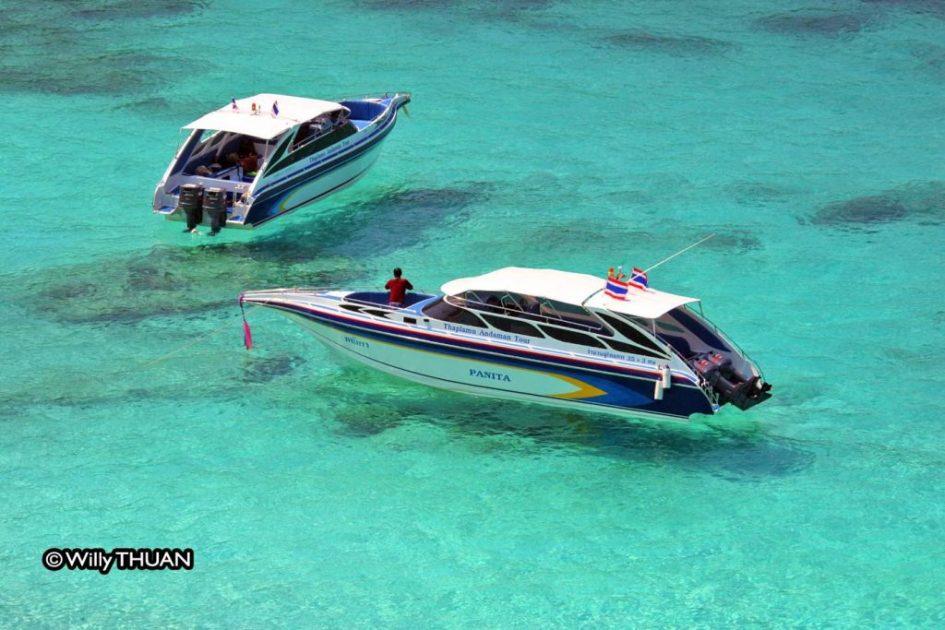 Speedboat trip to the Similan Islands