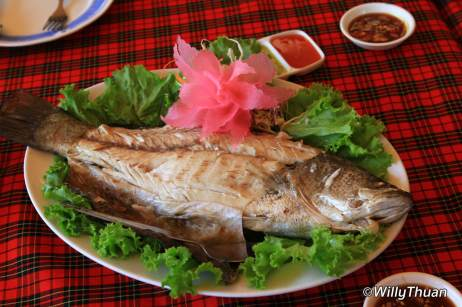 Steamed fish at Pak Nam seafood in Phuket Town