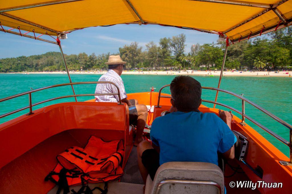 Boat to Laem Singh Beach